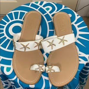 Miss Trish for target sz 8 starfish sandals white